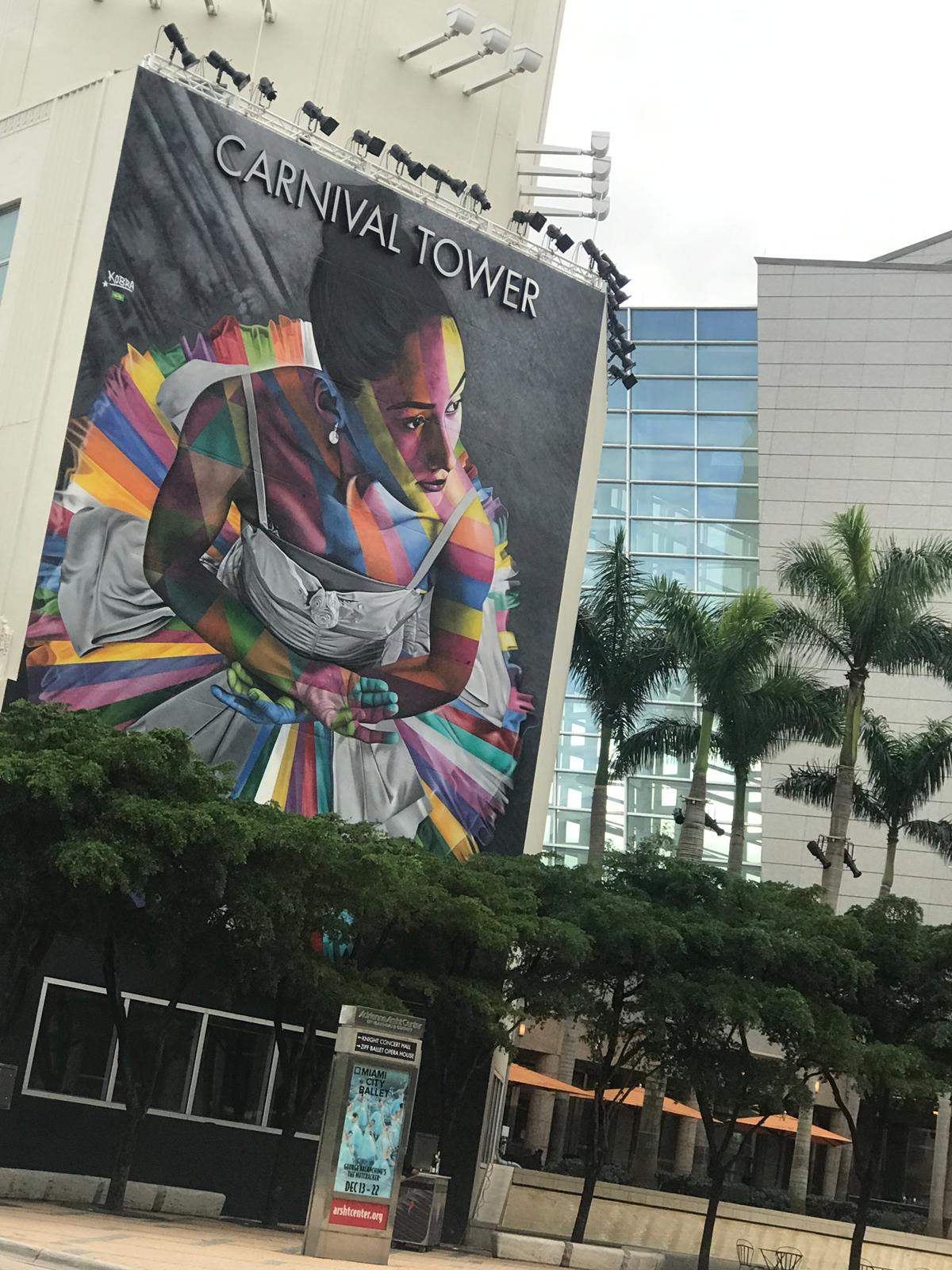 Miami street art, Miami mural, ballerina, ballet, ballerina painting, miami colours, miami sights, vistas de miami, staceessmoothie, stacee's smoothie, stacees smoothie