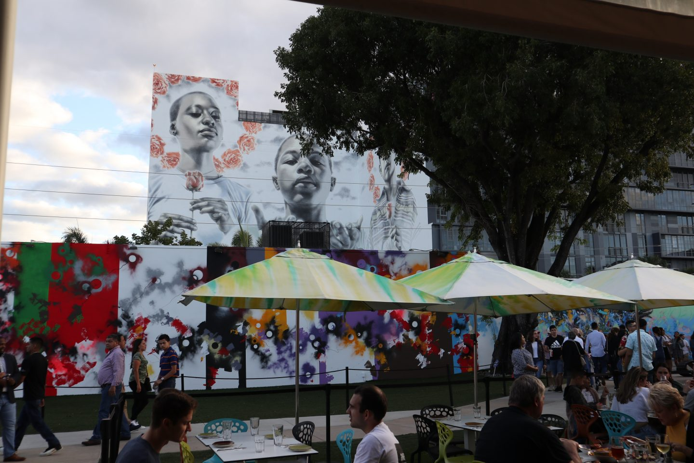 Wynwood Walls, Wynwood Walls Miami, Miami Art, Miami visuals, Miami murals, Miami US, girl at Wynwood Walls, Miami street art, staceessmoothie, stacee's smoothie, stacees smoothie, painting